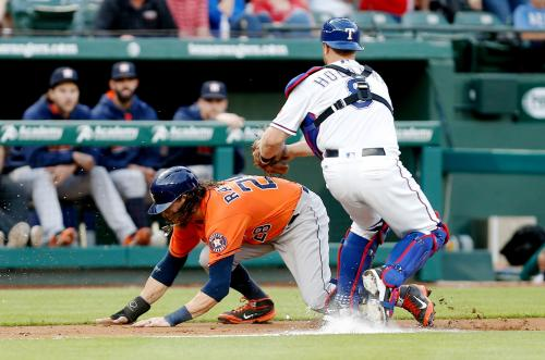 Astros Fall 2-1 To Rangers After Some Base Running Blunders