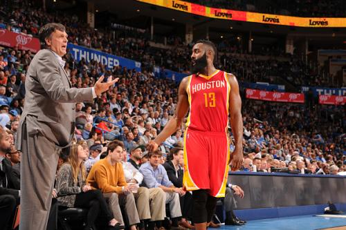 Harden's 41 Points Lead Rockets Past Thunder